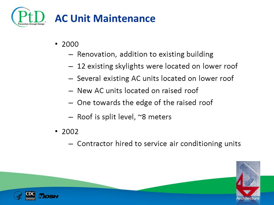 AC Unit Maintenance 2000 Renovation, addition to existing building