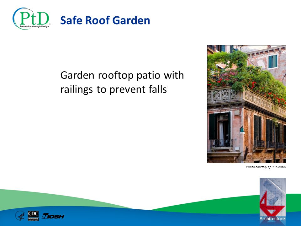 Safe Roof Garden Garden rooftop patio with railings to prevent falls