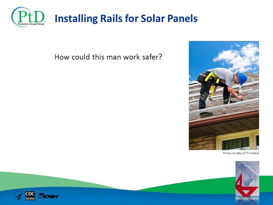 Installing Rails for Solar Panels