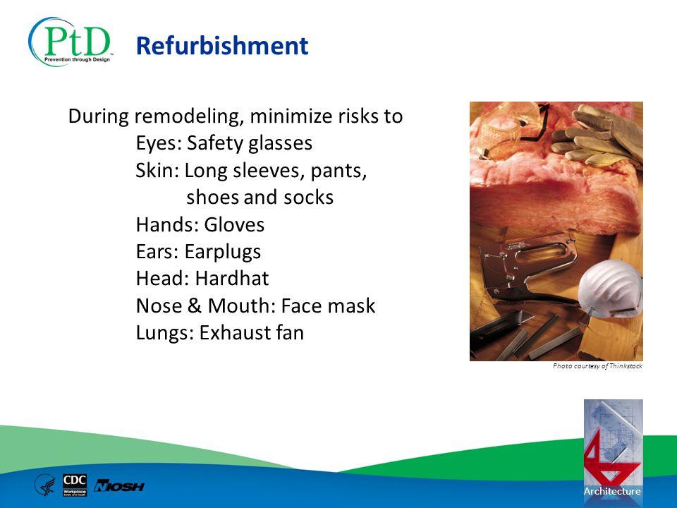Refurbishment During remodeling, minimize risks to