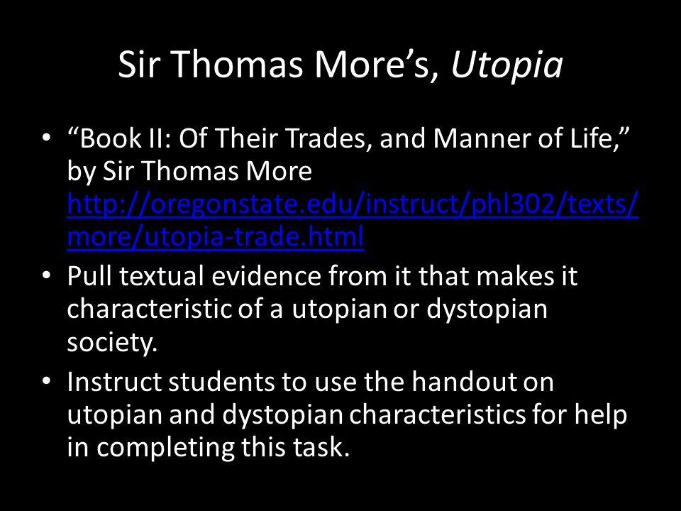 Sir Thomas More's, Utopia