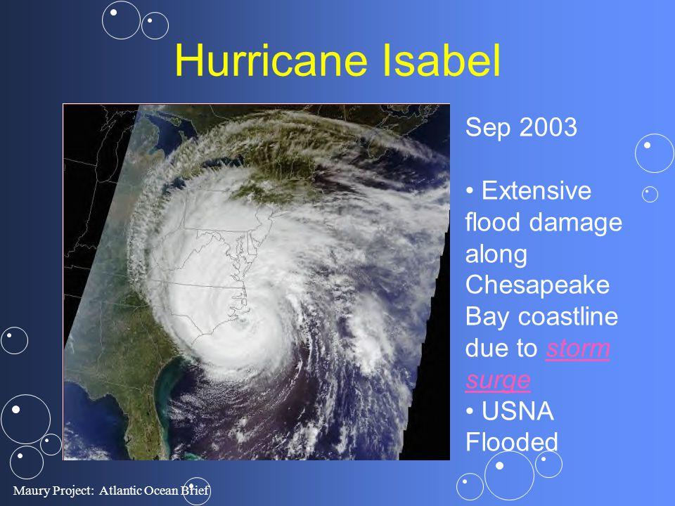 Hurricane Isabel Sep 2003. Extensive flood damage along Chesapeake Bay coastline due to storm surge.