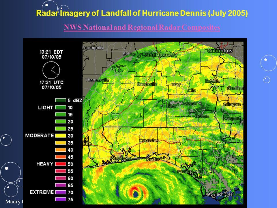 Radar Imagery of Landfall of Hurricane Dennis (July 2005)