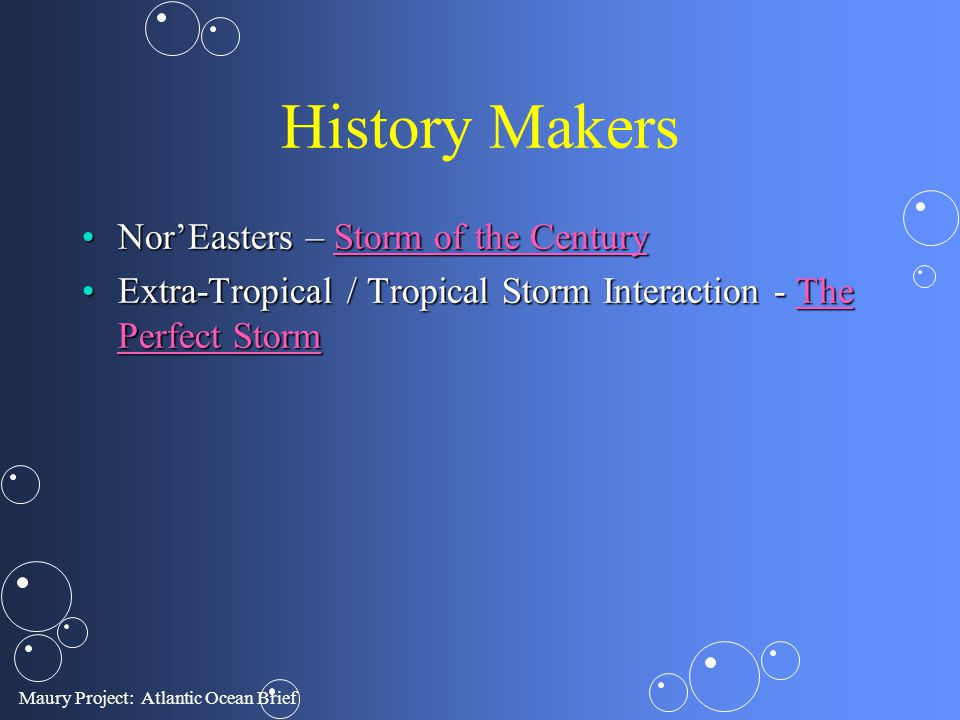 History Makers Nor'Easters – Storm of the Century