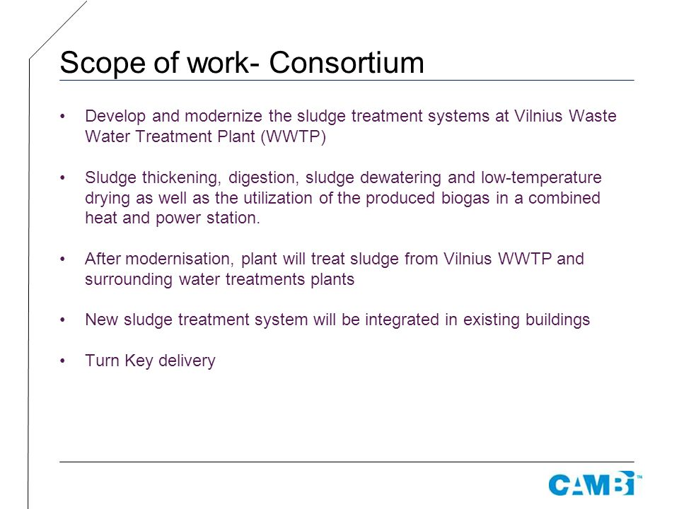 Scope of work- Consortium