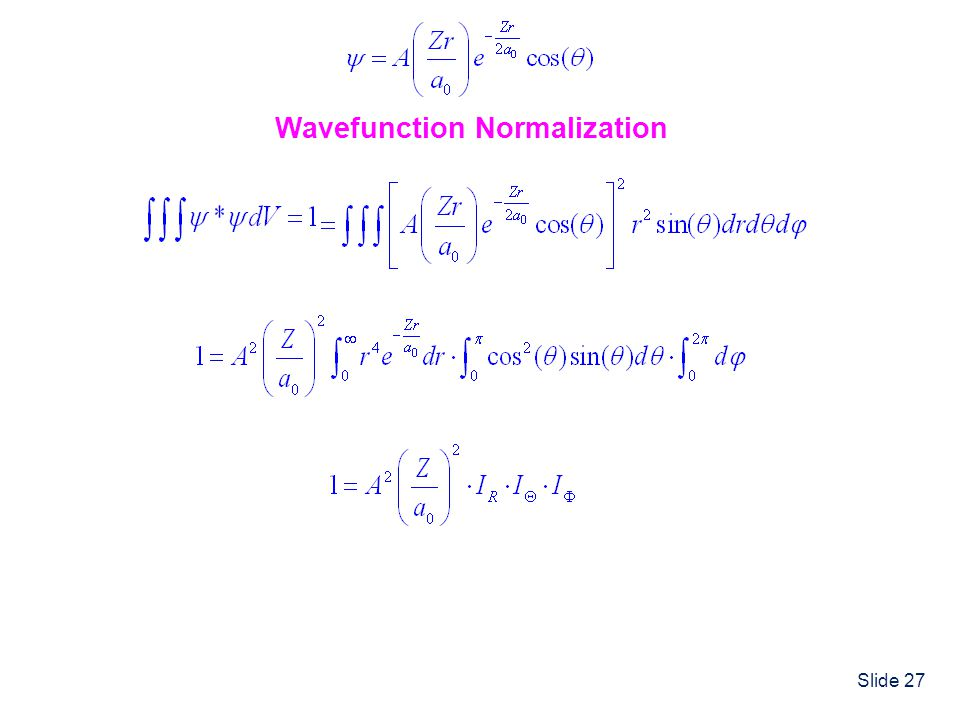 Wavefunction Normalization