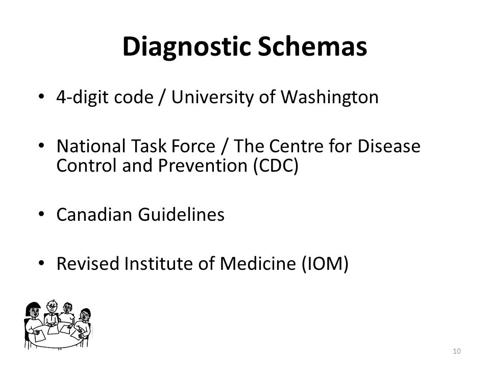 Diagnostic Schemas 4-digit code / University of Washington