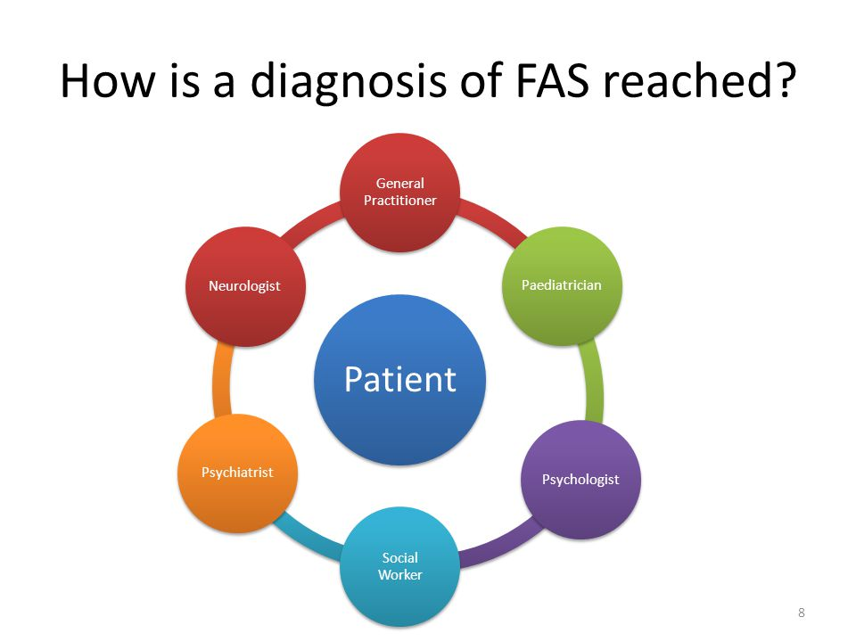 How is a diagnosis of FAS reached