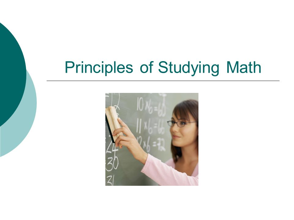 Principles of Studying Math
