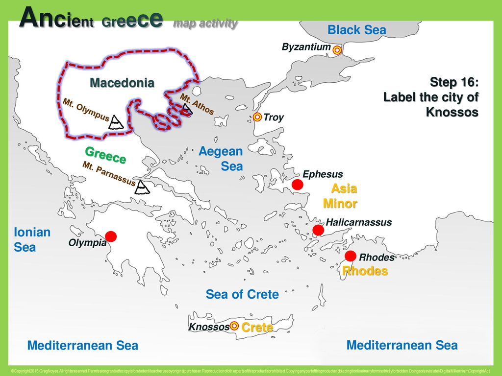 Picture of: Ancient Greece Map Activity Ppt Download