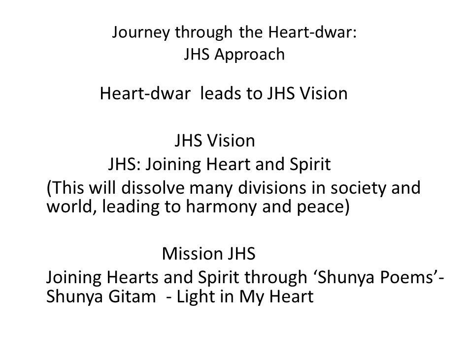 Journey through the Heart-dwar: JHS Approach