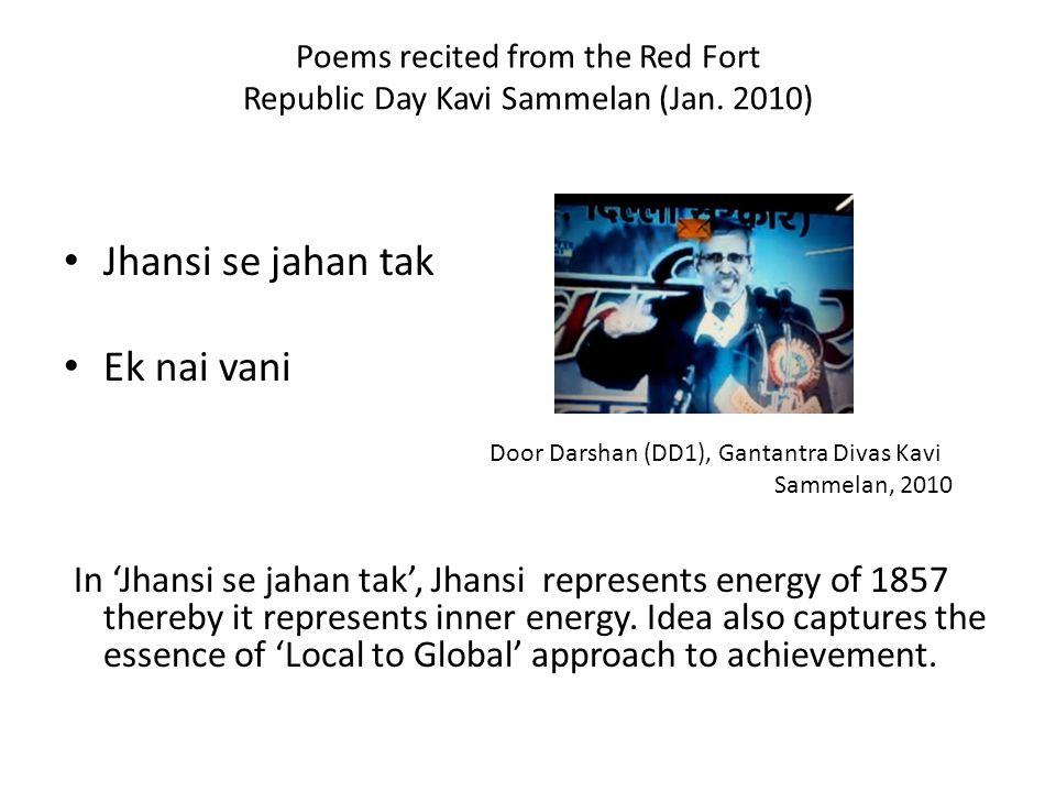 Poems recited from the Red Fort Republic Day Kavi Sammelan (Jan. 2010)