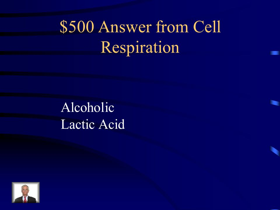 $500 Answer from Cell Respiration