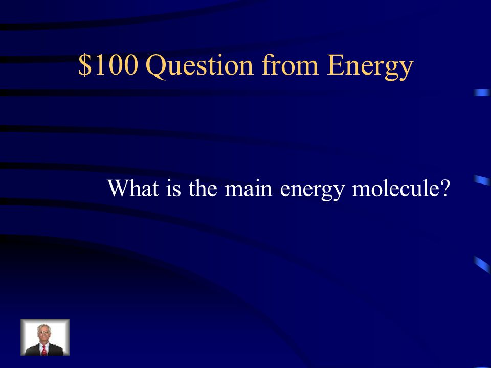 $100 Question from Energy What is the main energy molecule