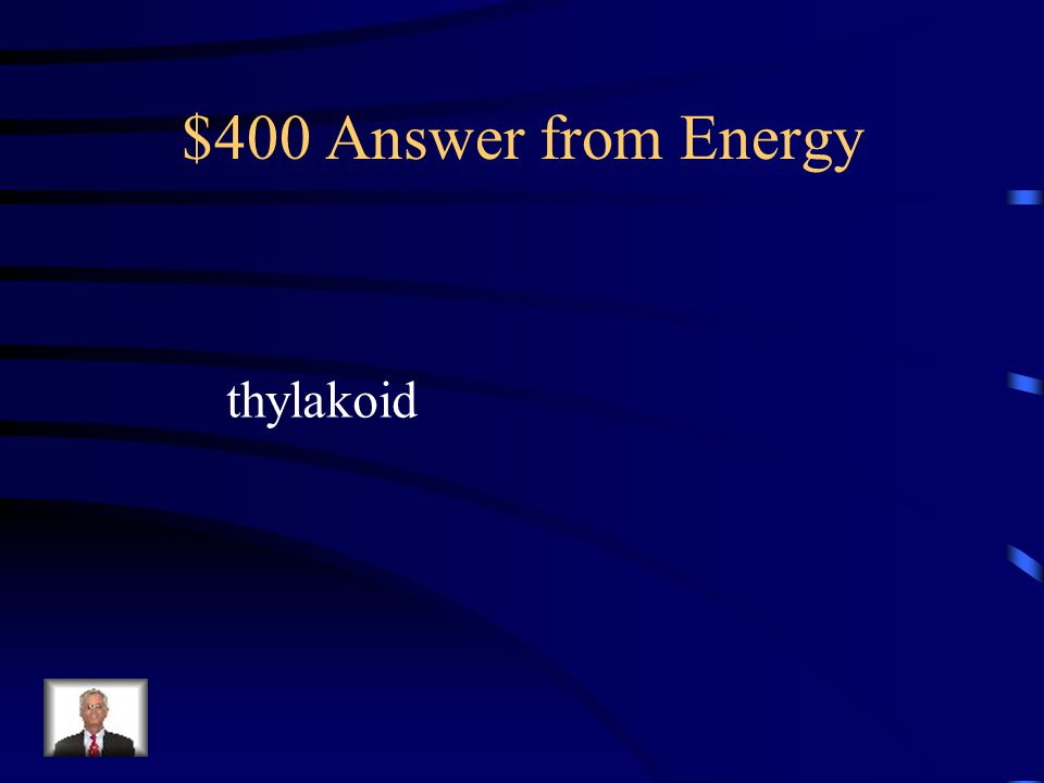 $400 Answer from Energy thylakoid