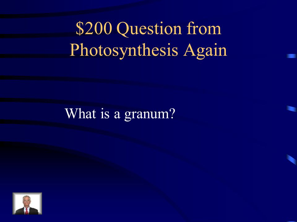 $200 Question from Photosynthesis Again
