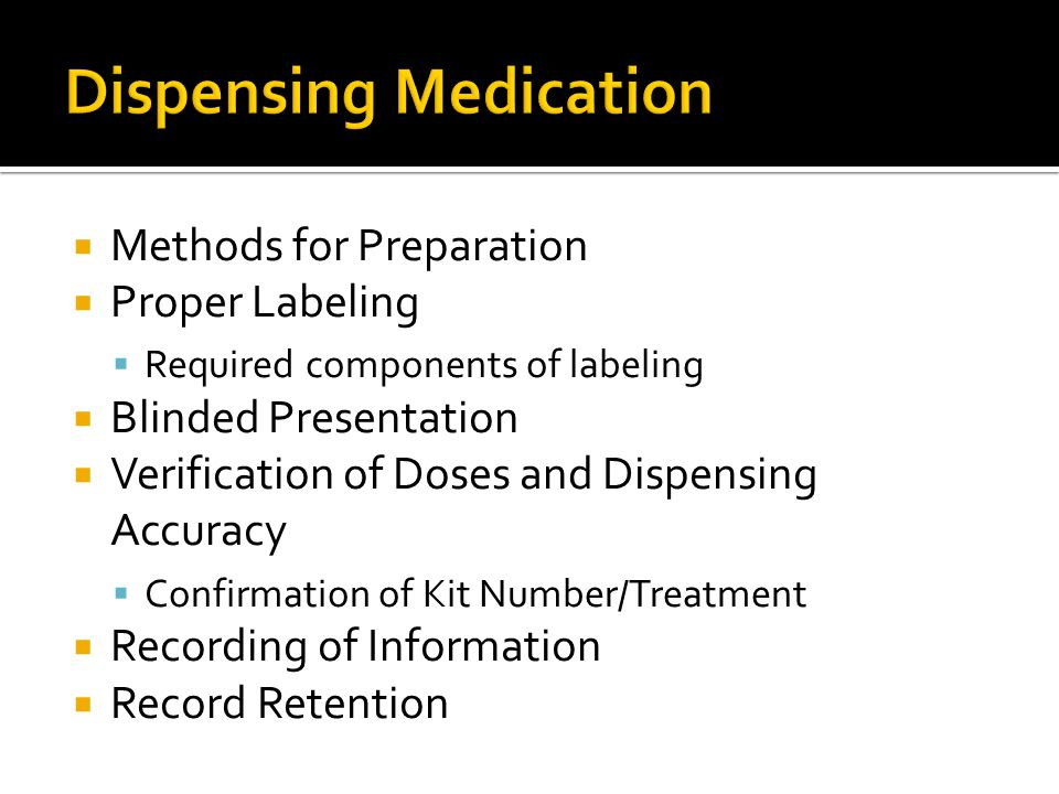 Dispensing Medication