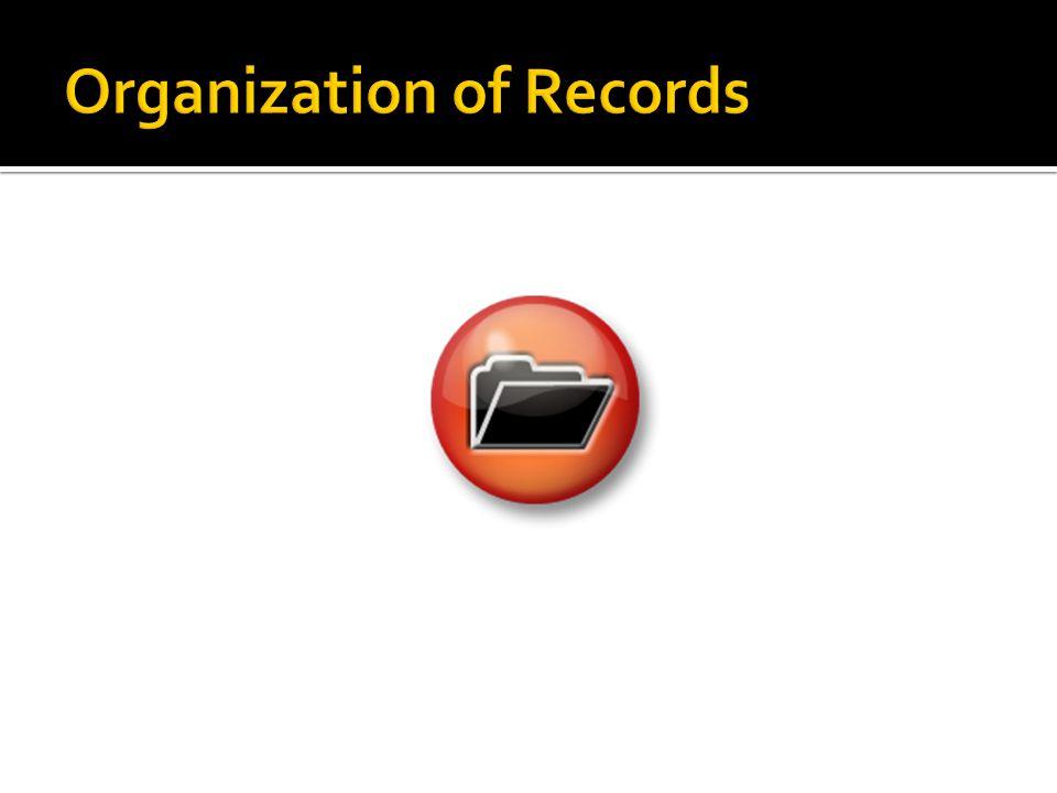 Organization of Records