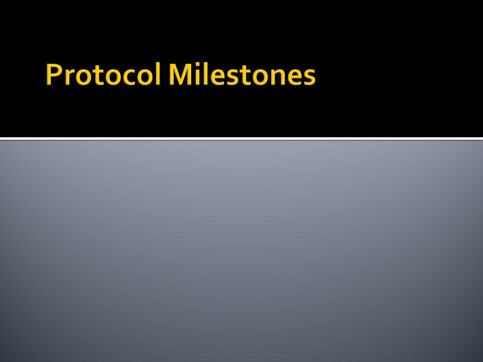 Protocol Milestones