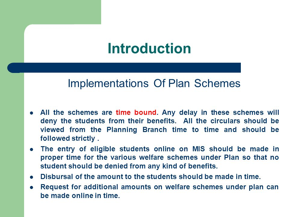 Implementations Of Plan Schemes