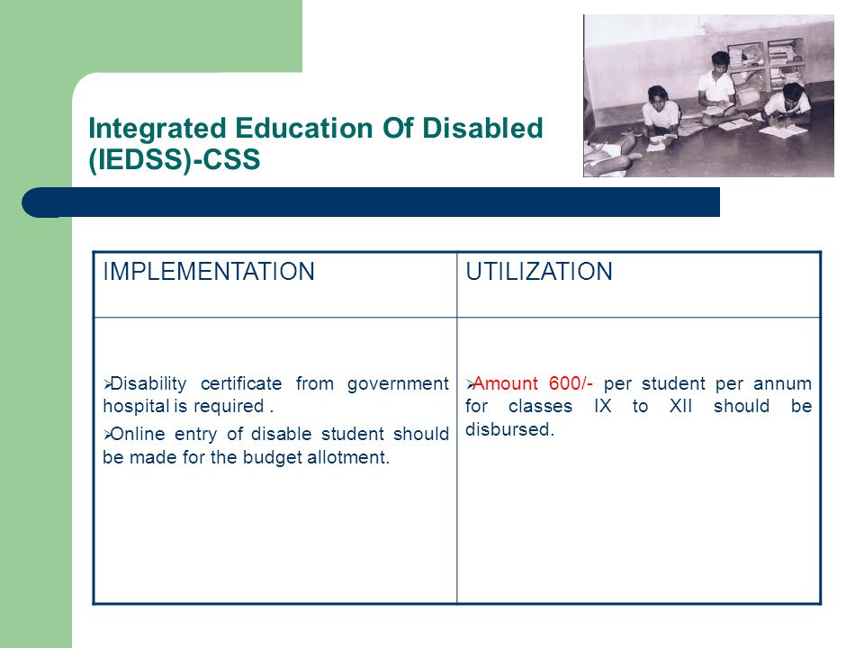 Integrated Education Of Disabled (IEDSS)-CSS