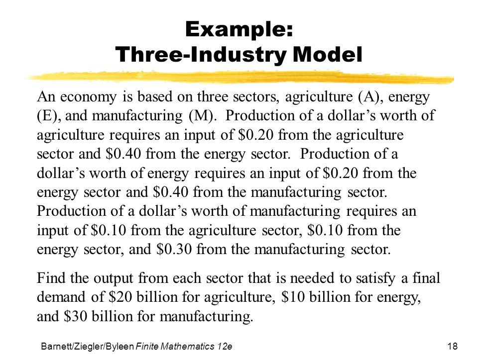 Example: Three-Industry Model
