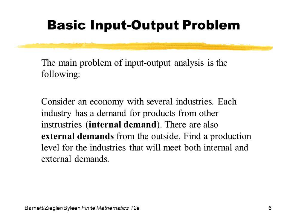Basic Input-Output Problem