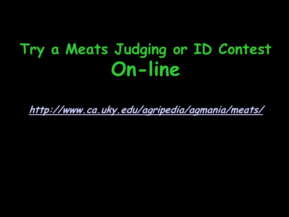Try a Meats Judging or ID Contest On-line