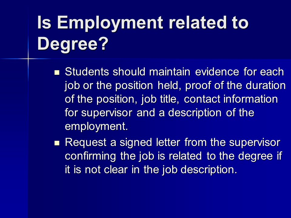 Is Employment related to Degree
