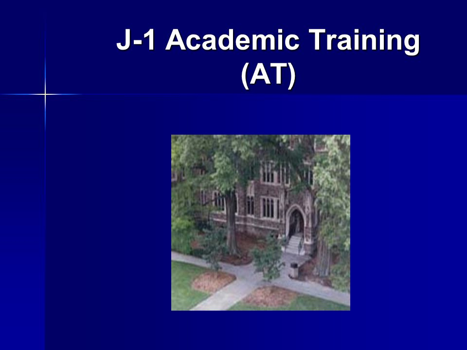 J-1 Academic Training (AT)