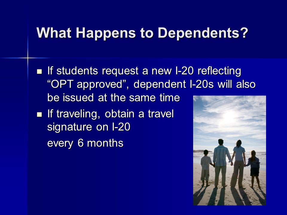 What Happens to Dependents