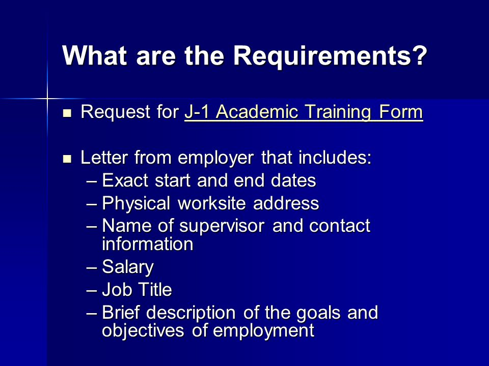 What are the Requirements