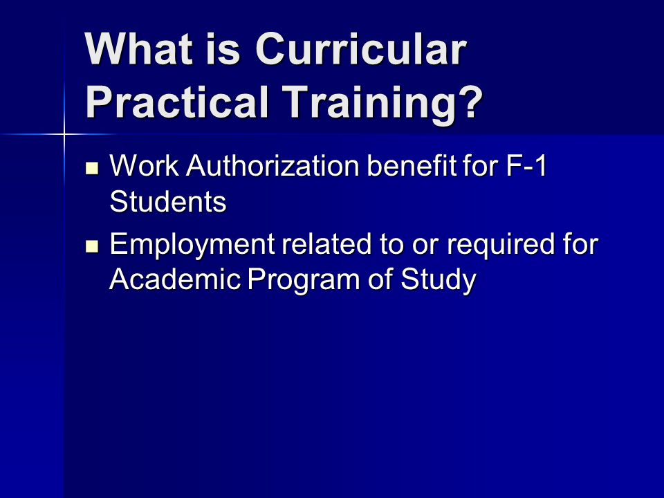 What is Curricular Practical Training