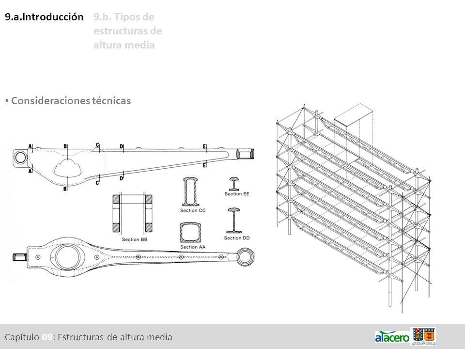 Consideraciones técnicas 9.b. Tipos de estructuras de altura media