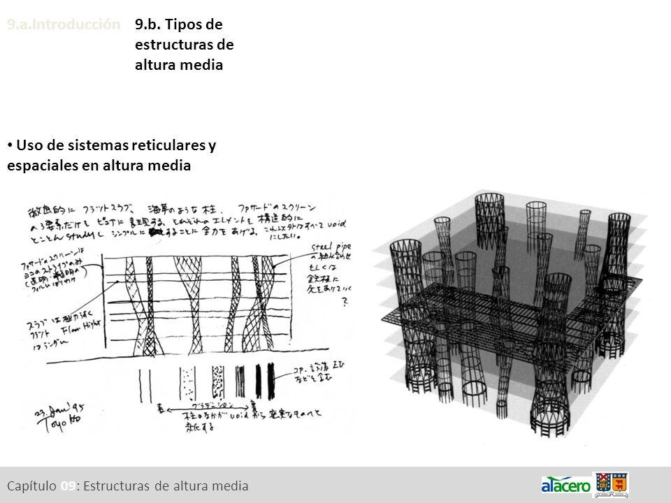 Uso de sistemas reticulares y espaciales en altura media