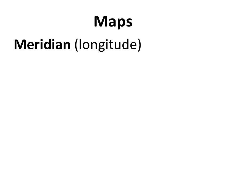 Maps Meridian (longitude)