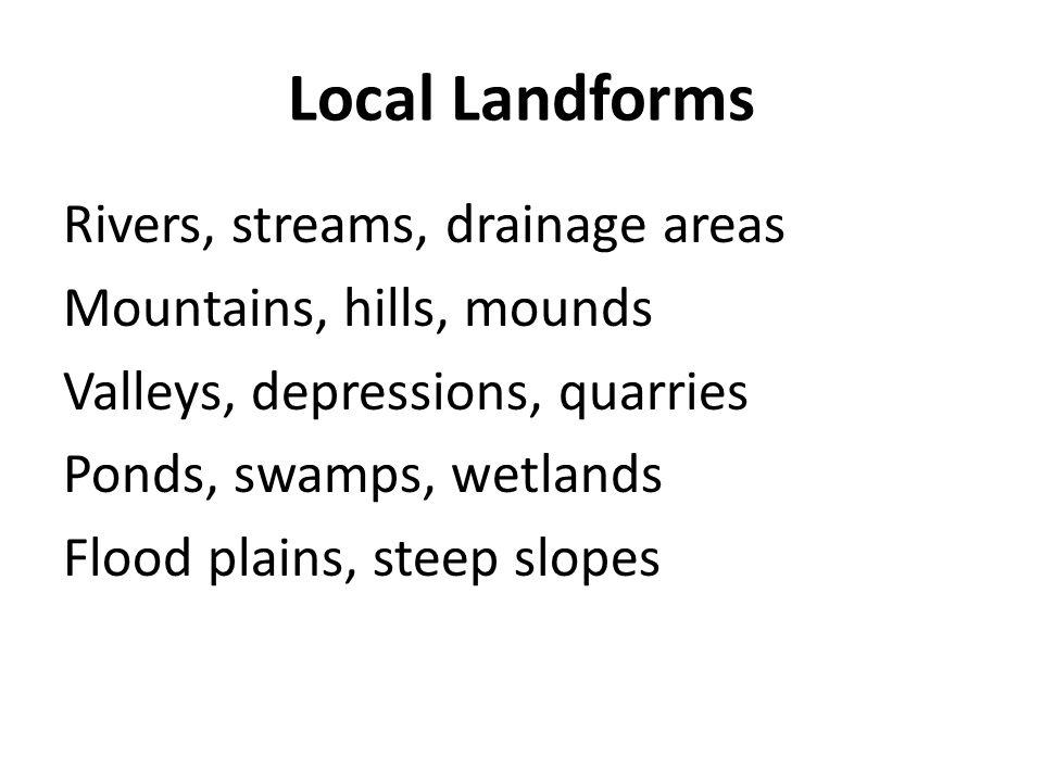 Local Landforms