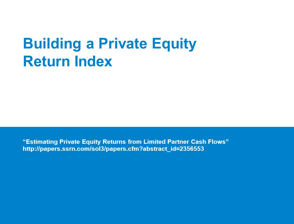 Building a Private Equity Return Index