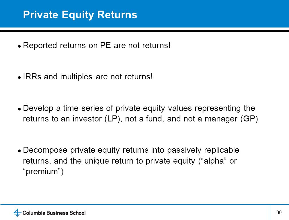 Private Equity Returns