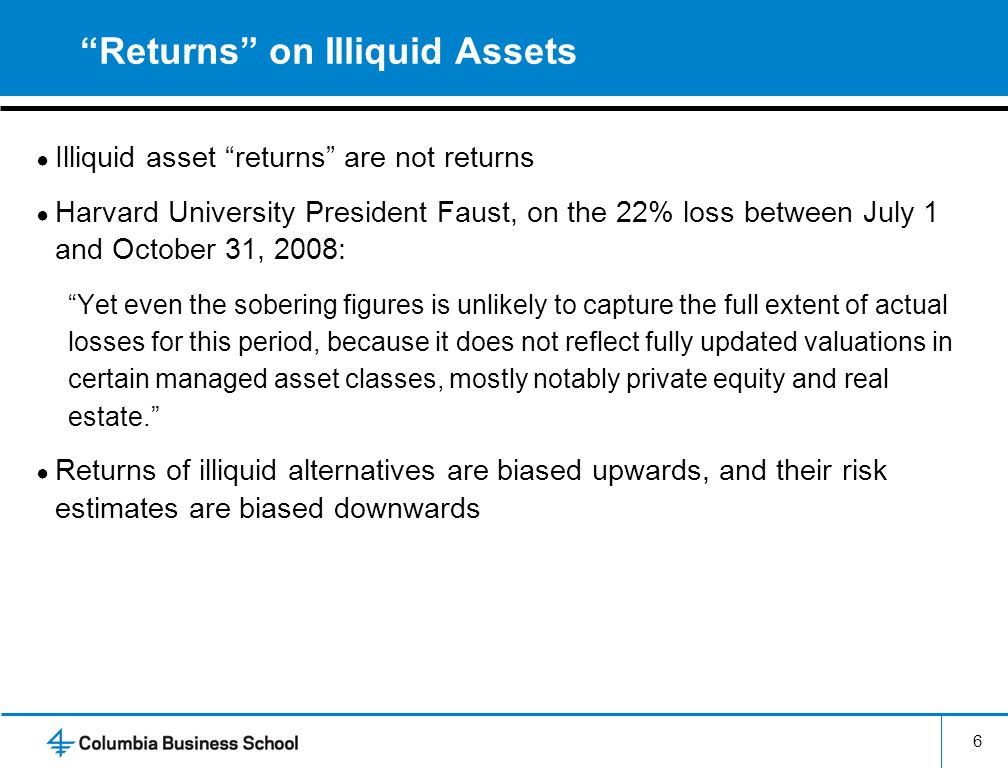 Returns on Illiquid Assets