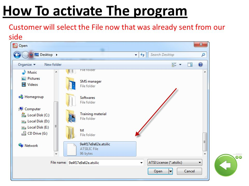 How To activate The program