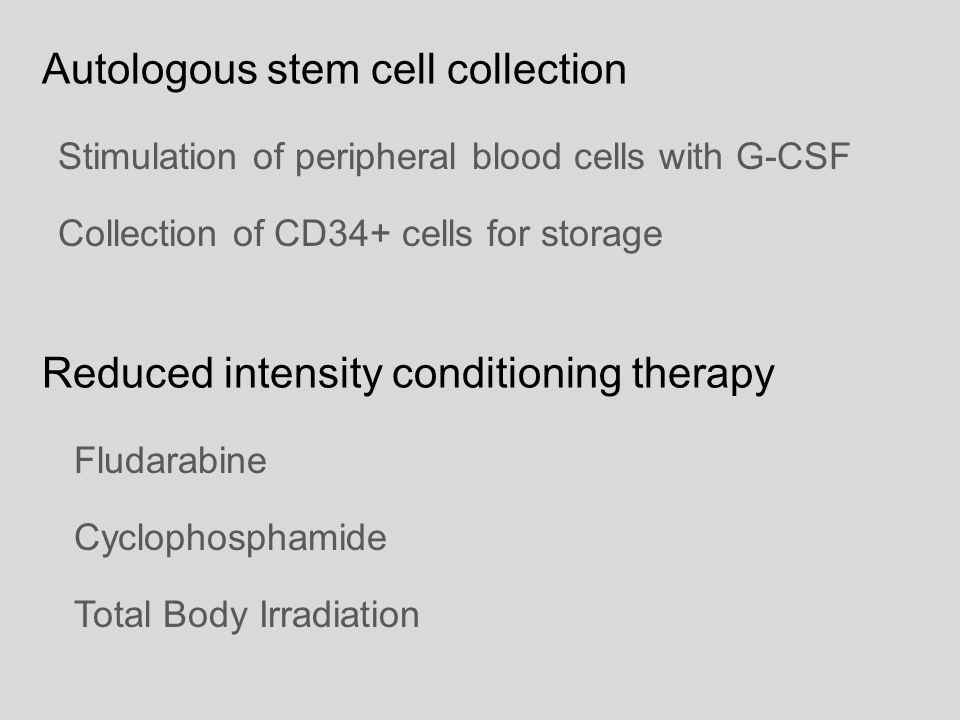 Autologous stem cell collection