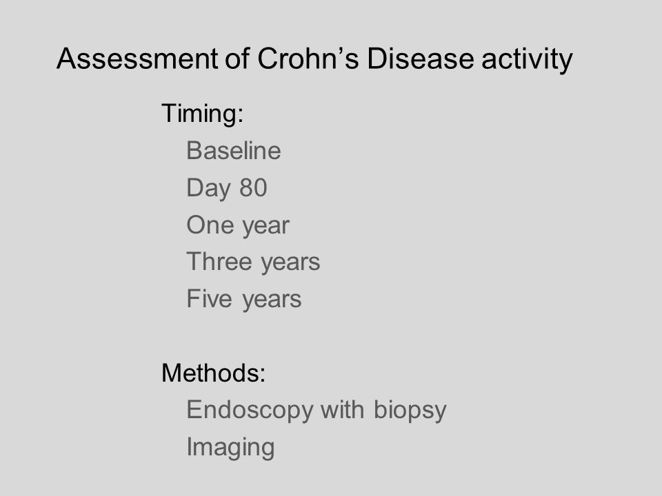 Assessment of Crohn's Disease activity