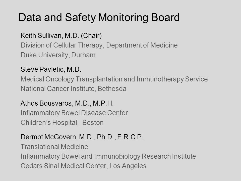 Data and Safety Monitoring Board