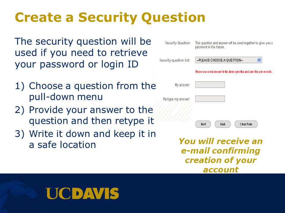 Create a Security Question