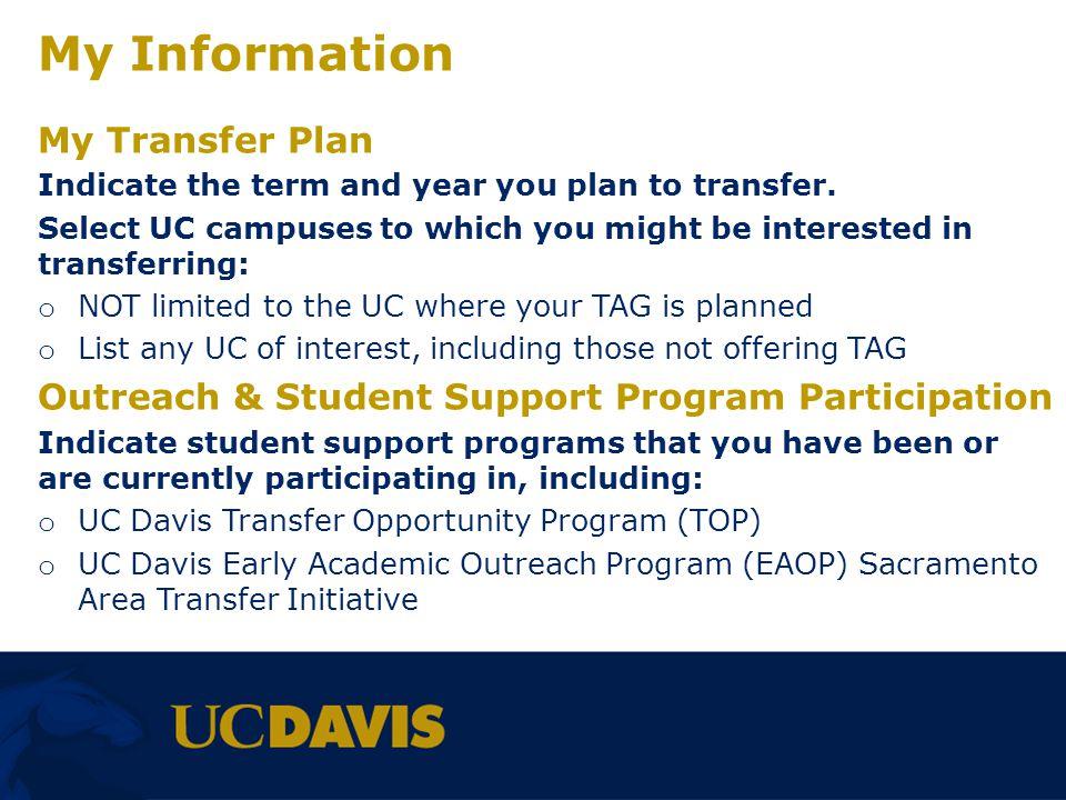 My Information My Transfer Plan
