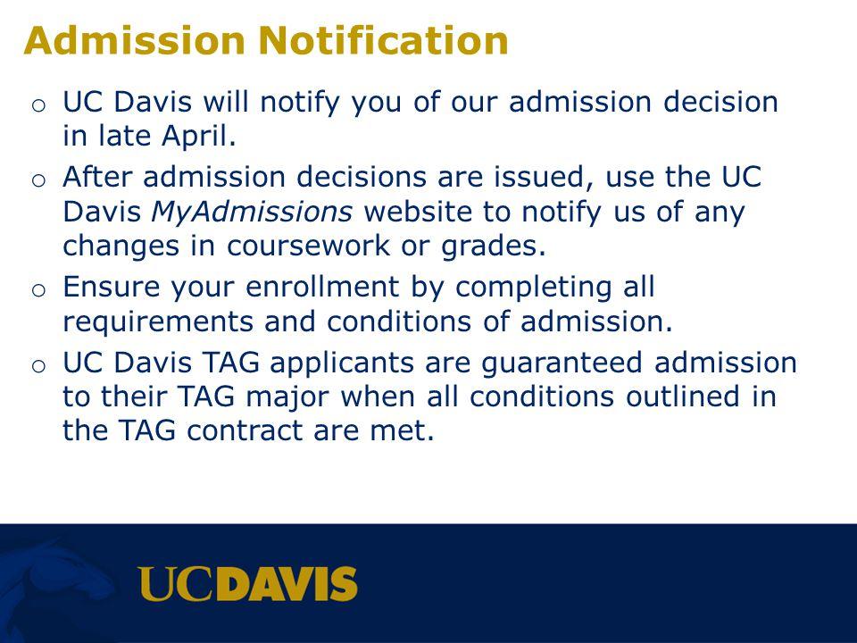 Admission Notification