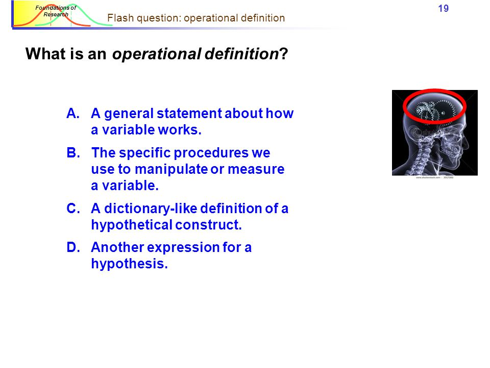 Flash question: operational definition