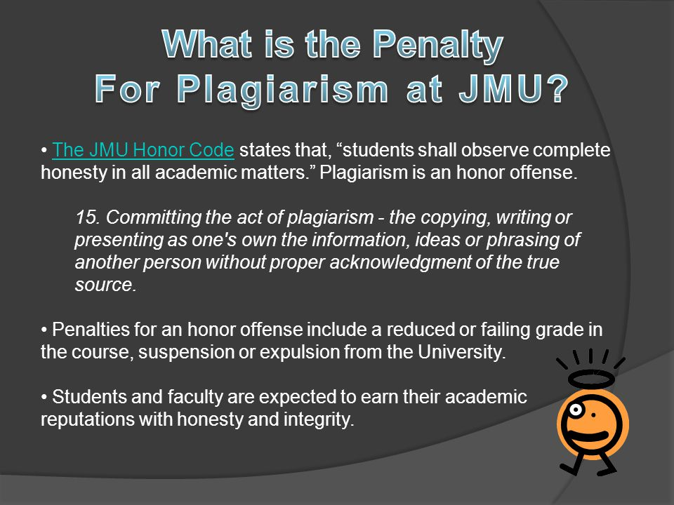 What is the Penalty For Plagiarism at JMU
