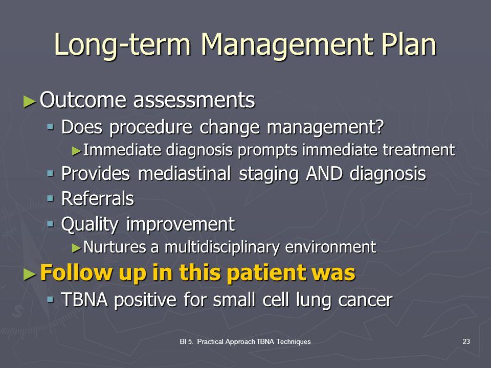 Long-term Management Plan